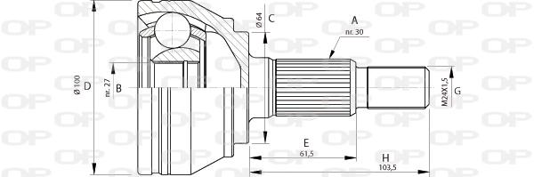 Joints spi/homocinetiques Solid parts CVJ5694.10 (X1)