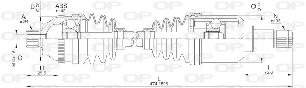 Cardans (arbre de transmission) Solid parts DRS6290.00 (X1)