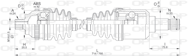 Cardans (arbre de transmission) Solid parts DRS6291.00 (X1)