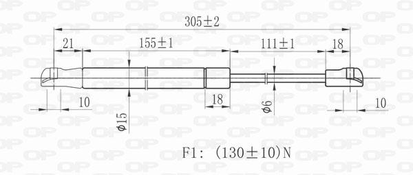 Verin de coffre Solid parts GSR6010.00 (X1)