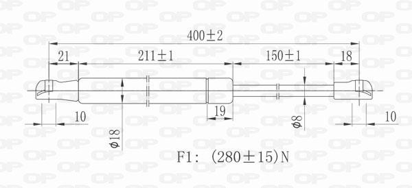 Verin de capot Solid parts GSR6186.00 (X1)