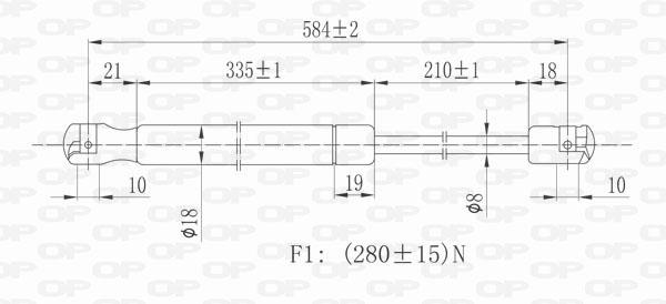 Verin de capot Solid parts GSR6207.01 (X1)