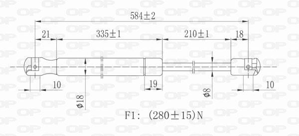 Verin de capot Solid parts GSR6207.10 (X1)