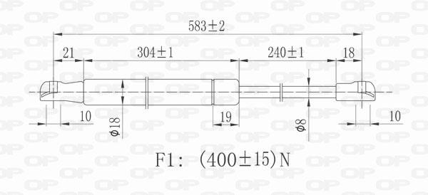 Verin de capot Solid parts GSR6394.00 (X1)