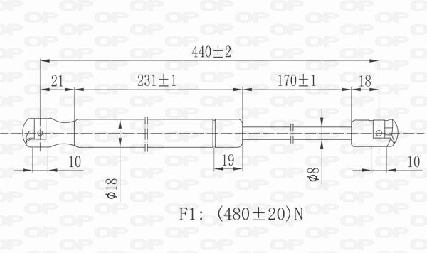 Verin de coffre Solid parts GSR6404.00 (X1)