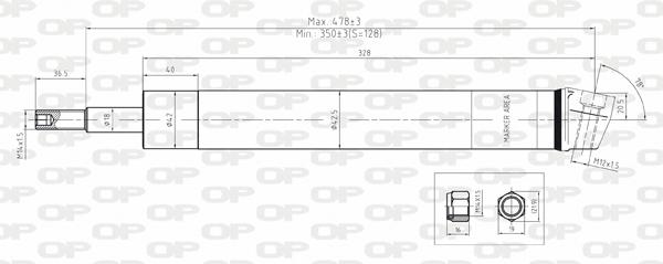 Amortisseur avant Solid parts SAB8083.31 (X1)