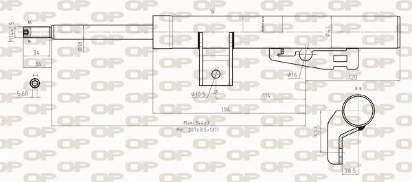 Amortisseur avant Solid parts SAB8277.31 (X1)