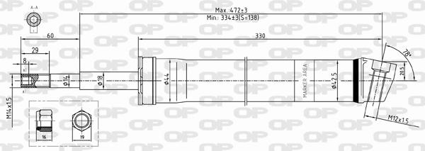 Amortisseur avant Solid parts SAB8354.31 (X1)