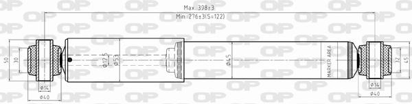 Amortisseur arriere Solid parts SAB8363.32 (X1)