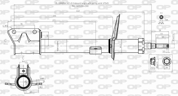 Amortisseur arriere Solid parts SAB8388.32 (X1)