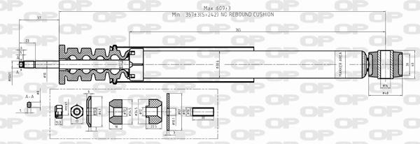 Amortisseur arriere Solid parts SAB8497.32 (X1)