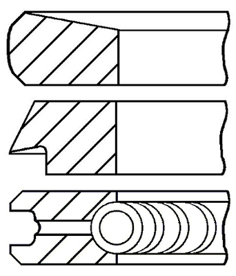 Segments de piston GOETZE ENGINE 08-112707-00 (X1)