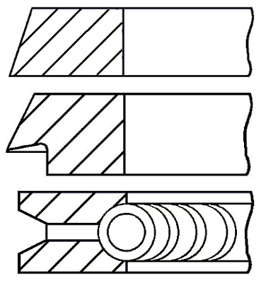 Segments de piston GOETZE ENGINE 08-115700-00 (X1)