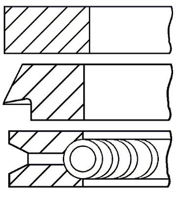 Segments de piston GOETZE ENGINE 08-125700-00 (X1)