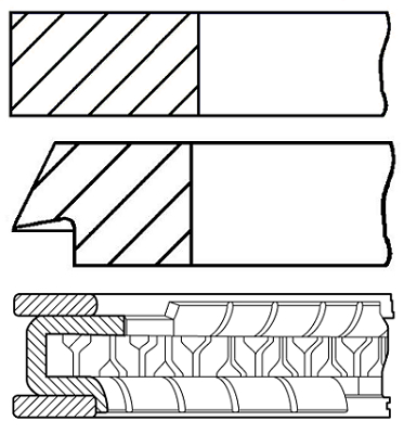 Segments de piston GOETZE ENGINE 08-137400-00 (X1)