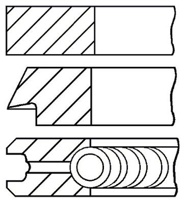 Segments de piston GOETZE ENGINE 08-140707-00 (X1)