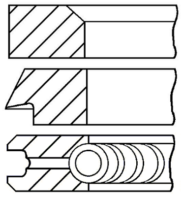 Segments de piston GOETZE ENGINE 08-142406-00 (X1)