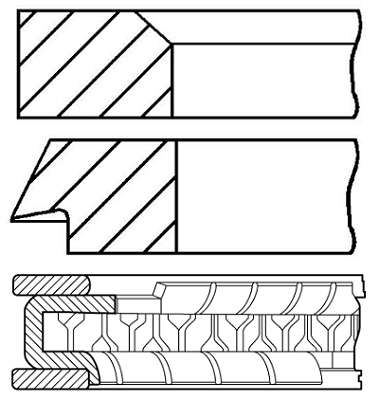 Segments de piston GOETZE ENGINE 08-207604-00 (X1)