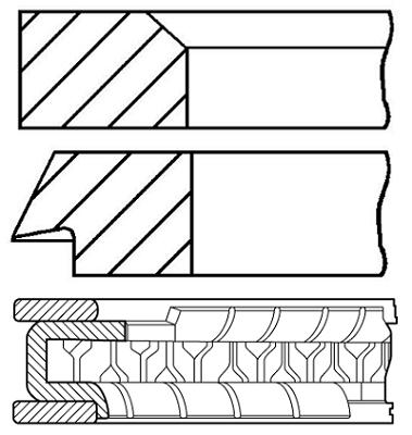 Segments de piston GOETZE ENGINE 08-207610-00 (X1)