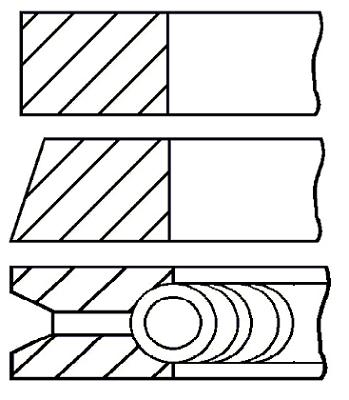 Segments de piston GOETZE ENGINE 08-286700-00 (X1)