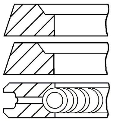 Segments de piston GOETZE ENGINE 08-318600-10 (X1)