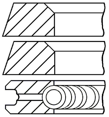Segments de piston GOETZE ENGINE 08-319500-10 (X1)