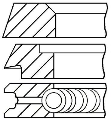 Segments de piston GOETZE ENGINE 08-319600-10 (X1)