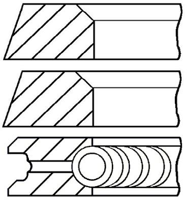Segments de piston GOETZE ENGINE 08-319700-10 (X1)