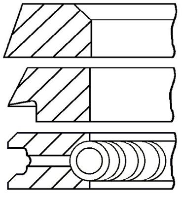 Segments de piston GOETZE ENGINE 08-319800-10 (X1)