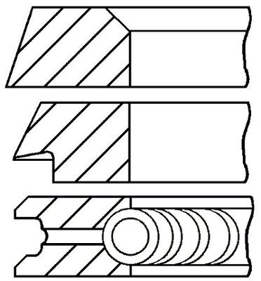 Segments de piston GOETZE ENGINE 08-320000-10 (X1)