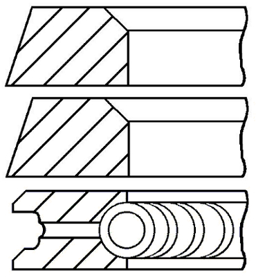 Segments de piston GOETZE ENGINE 08-320300-10 (X1)