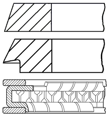 Segments de piston GOETZE ENGINE 08-320400-10 (X1)