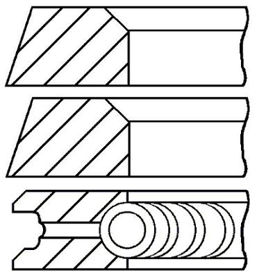 Segments de piston GOETZE ENGINE 08-320700-10 (X1)