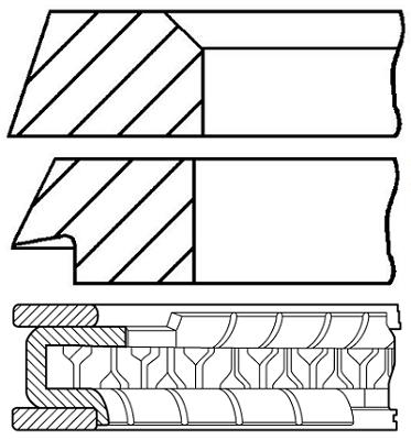 Segments de piston GOETZE ENGINE 08-321200-00 (X1)