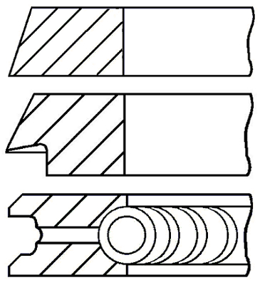 Segments de piston GOETZE ENGINE 08-321700-00 (X1)