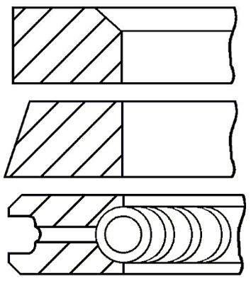 Segments de piston GOETZE ENGINE 08-323300-00 (X1)