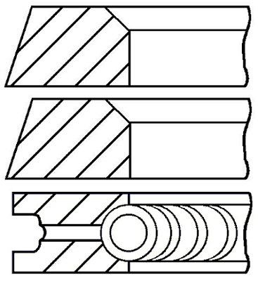 Segments de piston GOETZE ENGINE 08-325300-00 (X1)