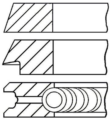 Segments de piston GOETZE ENGINE 08-325900-00 (X1)