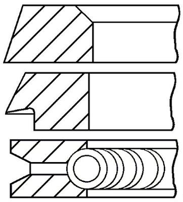 Segments de piston GOETZE ENGINE 08-397900-00 (X1)