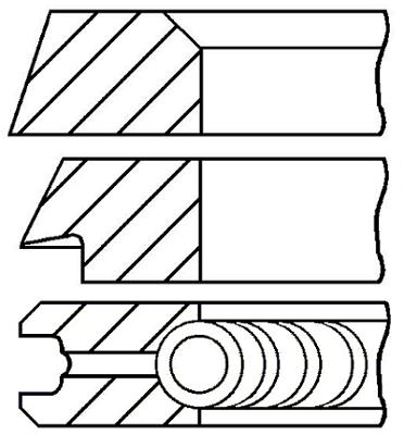 Segments de piston GOETZE ENGINE 08-399107-00 (X1)