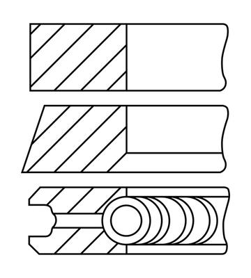 Segments de piston GOETZE ENGINE 08-399107-10 (X1)