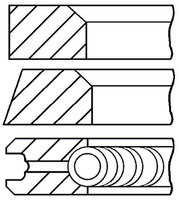 Segments de piston GOETZE ENGINE 08-399700-10 (X1)