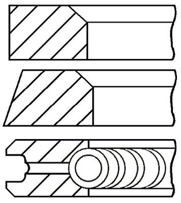 Segments de piston GOETZE ENGINE 08-399707-10 (X1)