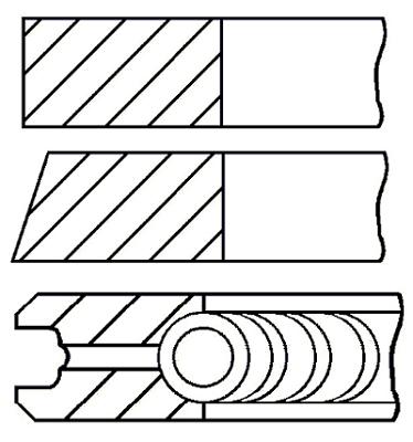 Segments de piston GOETZE ENGINE 08-421500-00 (X1)
