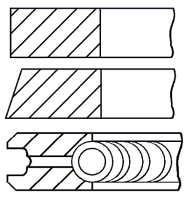 Segments de piston GOETZE ENGINE 08-421507-00 (X1)