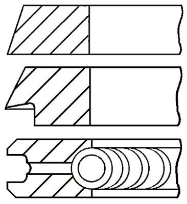 Segments de piston GOETZE ENGINE 08-425100-00 (X1)