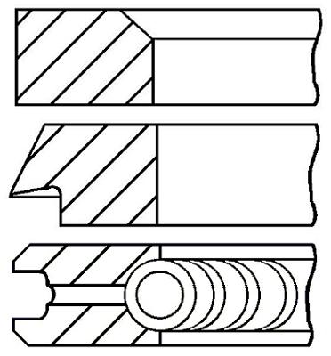 Segments de piston GOETZE ENGINE 08-427707-00 (X1)