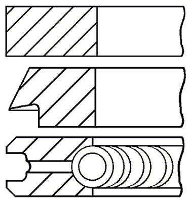 Segments de piston GOETZE ENGINE 08-428200-00 (X1)