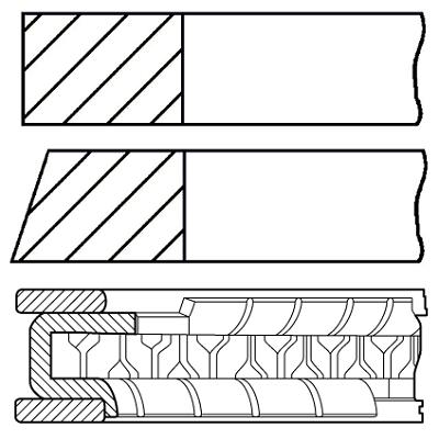 Segments de piston GOETZE ENGINE 08-431200-00 (X1)