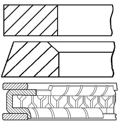 Segments de piston GOETZE ENGINE 08-431400-00 (X1)
